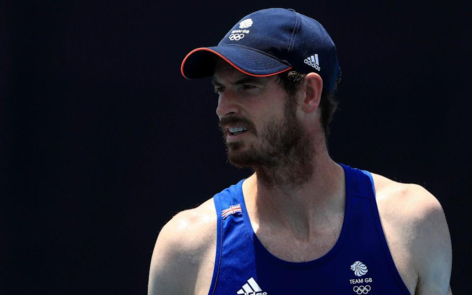 Andy Murray of Team Great Britain looks on during practice ahead of the Tokyo 2020 Olympic Games at the Ariake Tennis Park on July 20, 2021 in Tokyo, Japan. - GETTY IMAGES