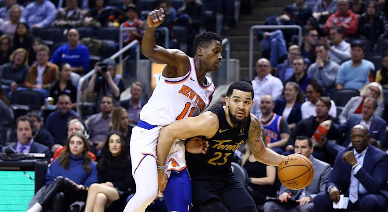 Toronto's 126-98 win over the New York Knicks on Wednesday night was their 33rd straight at home against Atlantic Division opponents. (Photo by Vaughn Ridley/Getty Images)