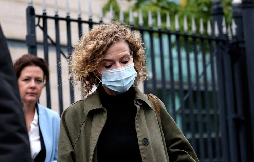 Noah Donohoe's mother Fiona leaves the coroner's court in Belfast (Peter Morrison/PA) (PA Wire)