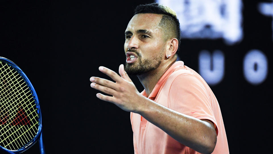 Nick Kyrgios has been backed to potentially win a Grand Slam by great Goran Ivanisevic. (Getty Images)