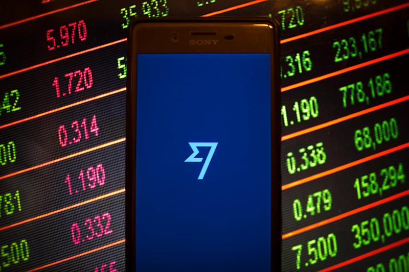 BANGKOK, THAILAND - 2019/01/11: In this photo illustration, the TransferWise application seen displayed on an Android smartphone. (Photo Illustration by Guillaume Payen/SOPA Images/LightRocket via Getty Images)