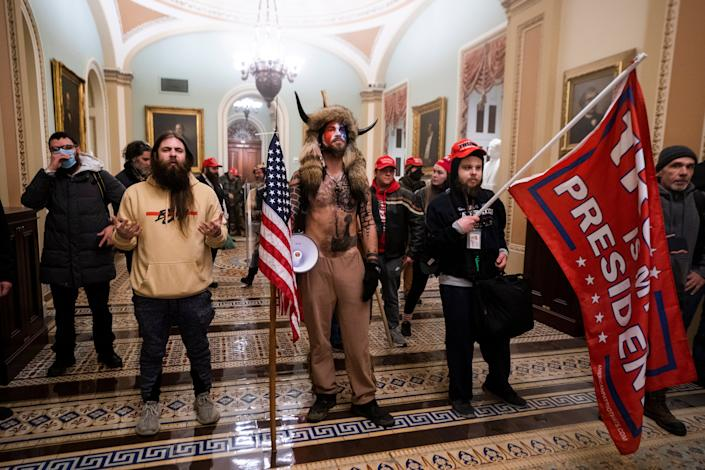 <p>Five people died during the violent insurrection, including a Capitol Police officer who was reportedly hit on the head with a fire extinguisher.</p> (EPA)