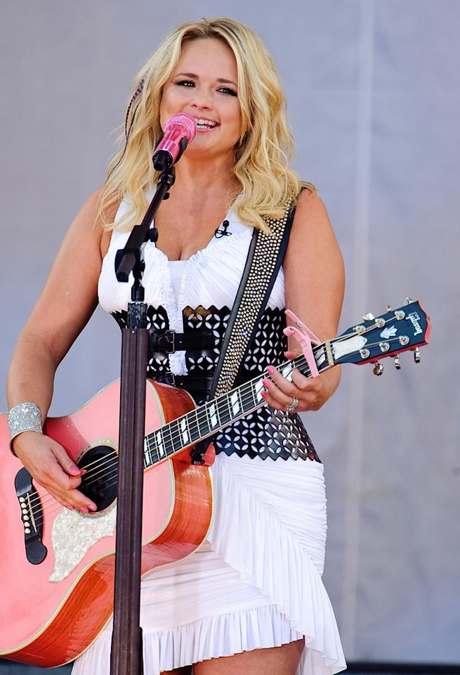 """Blake's bride Miranda Lambert has had an incredibly successful year. Following her Grammy win and domination at the Academy of Country Music Awards, Lambert wed Shelton at Don Strange Ranch in Boerne, Texas, in front of 550 family members and friends. Debra L Rothenberg/<a href=""""http://www.filmmagic.com/"""" target=""""new"""">FilmMagic.com</a> - July 8, 2011"""