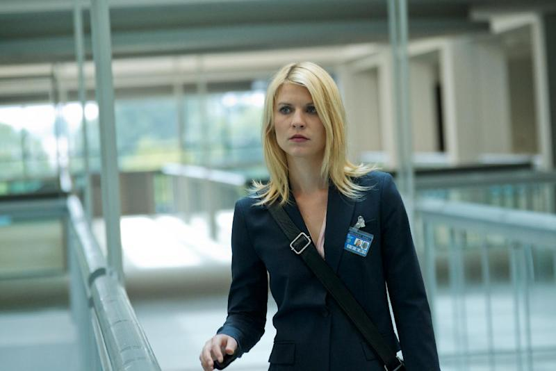 """In this image released by Showtime, Claire Danes portrays Carrie Mathison in a scene from the Showtime original series, """" Homeland."""" Danes was nominated Thursday, Dec. 13, 2012 for a Golden Globe for best actress in a drama series for her role in """" Homeland .""""  The 70th annual Golden Globe Awards will be held on Jan. 13. (AP Photo/Showtime, Kent Smith)"""