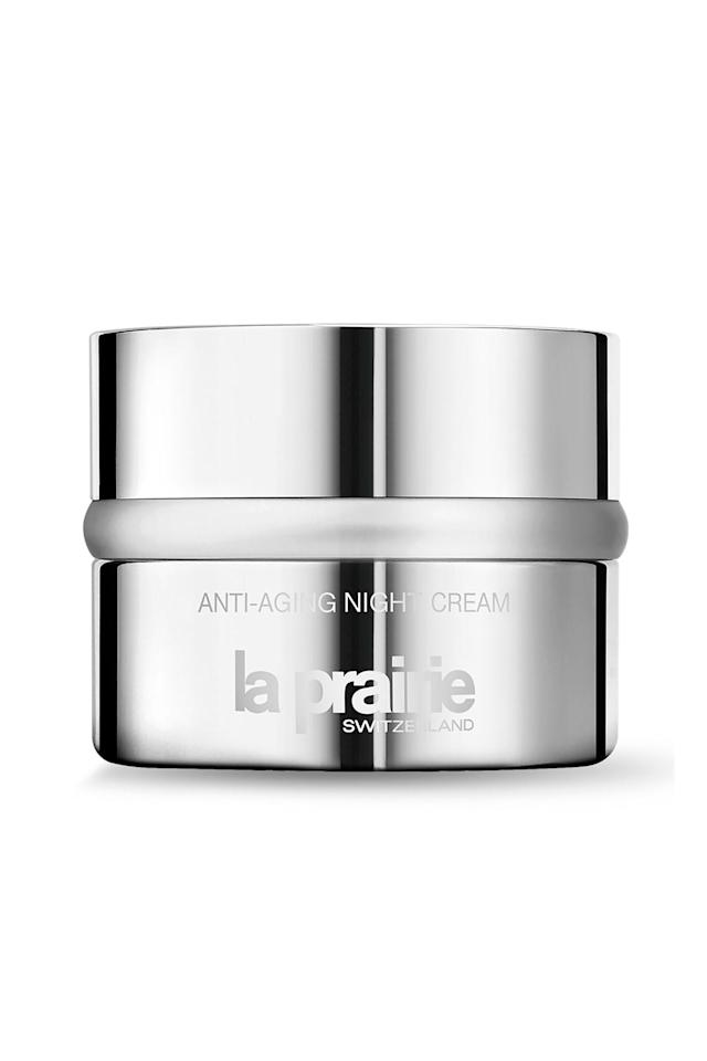 """<p><strong>La Prairie</strong></p><p>neimanmarcus.com</p><p><strong>$255.00</strong></p><p><a href=""""https://go.redirectingat.com?id=74968X1596630&url=https%3A%2F%2Fwww.neimanmarcus.com%2Fp%2Fprod81630027&sref=http%3A%2F%2Fwww.marieclaire.com%2Fbeauty%2Fnews%2Fg3628%2Fbest-night-creams%2F"""" target=""""_blank"""">SHOP IT</a></p><p>Real-life issues like pollution, UV exposure, environmental stressors, and so on cause our skin to age faster than we'd like, which is why it's essential for you to try at least one high-powered moisturizer in your life to see what all the hype is about. This moisturizer is no joke when it comes to extending the life of your skin's cells and advancing its natural repair process. Basically, it's youth in a shiny jar...and it's calling your name.</p>"""