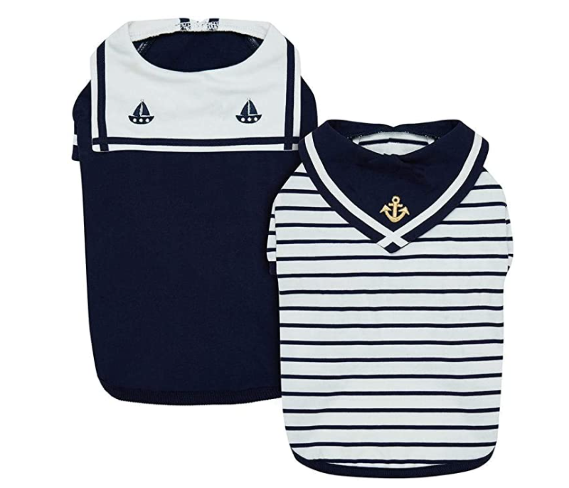 Two-set sailor suit for dogs