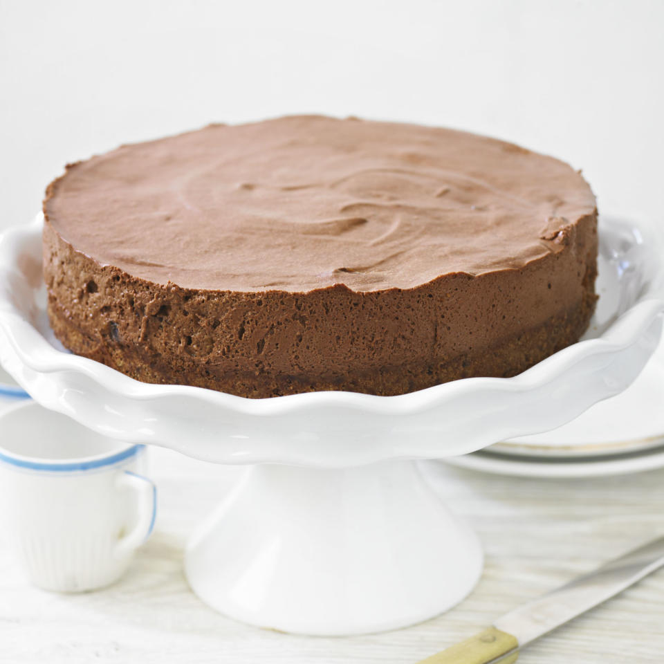 Chocolate Cheesecake with Armagnac Prunes