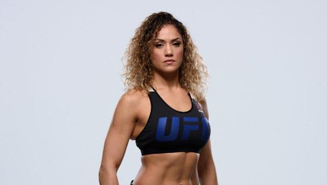 Pearl Gonzalez will not make her UFC debut this weekend after a rule forced her out of the fight. (Getty)