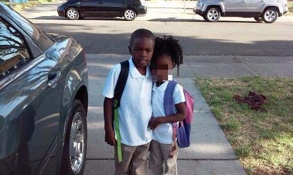 Eight-year-old Dante, pictured with his younger sister, whose face has been blurred to protect her identity. Dante died on Sept. 6, after being attacked with a hammer. (GoFundMe)