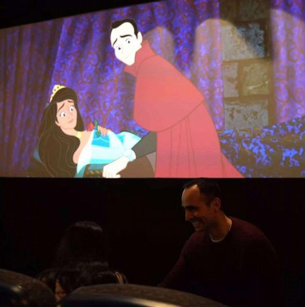 PHOTO: Lee Loechler created an alternate ending with his girlfriend as the princess in 'Sleeping Beauty' to propose at a one-of-a-kind screening of the film. (Lee Loechler)