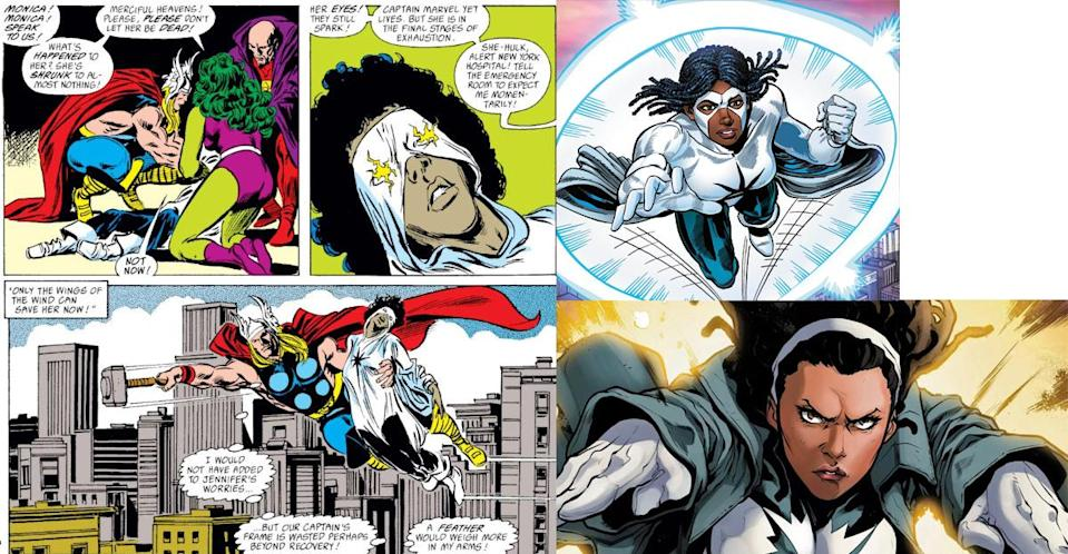 Monica Rambeau loses her powers in the pages of Avengers, but later emerges stronger than ever.