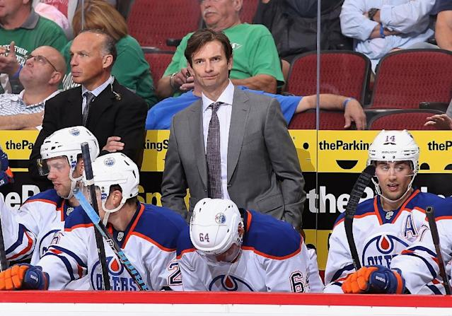 Former Edmonton Oilers coach Dallas Eakins was named Monday as the new coach of the Anaheim Ducks (AFP Photo/Christian Petersen)