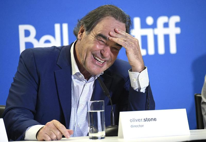 "Director Oliver Stone participates in the ""Snowden"" press conference on day 3 of the Toronto International Film Festival at the TIFF Bell Lightbox on Saturday, Sept. 10, 2016, in Toronto. (Photo by Evan Agostini/Invision/AP)"