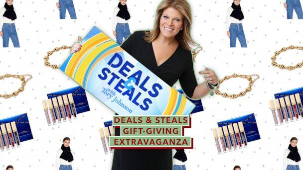 PHOTO: Deals & Steals Gift-Giving Extravaganza (ABC News Photo Illustration, Alex and Ani, Apparis, Stila)