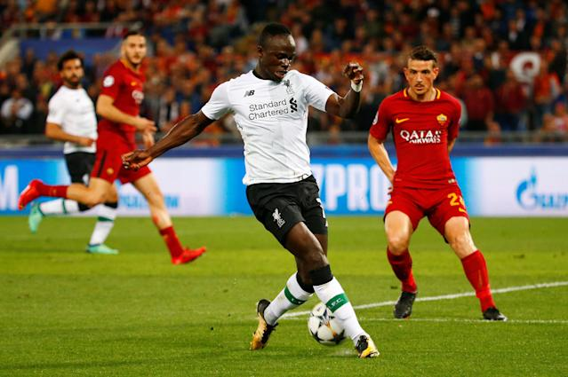 Soccer Football - Champions League Semi Final Second Leg - AS Roma v Liverpool - Stadio Olimpico, Rome, Italy - May 2, 2018 Liverpool's Sadio Mane in action REUTERS/Tony Gentile