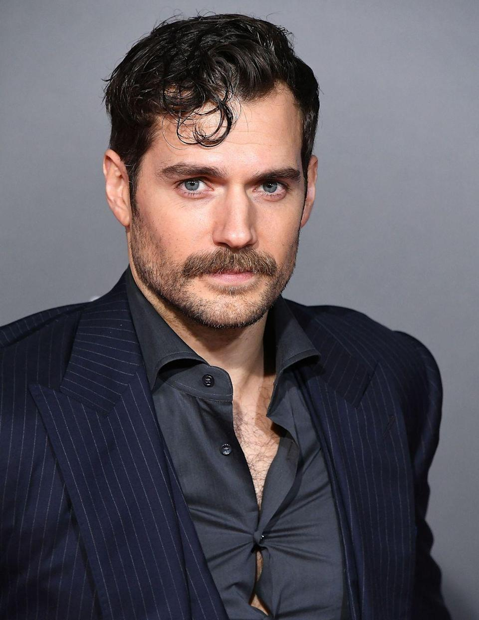 <p>There's a special place in Hollywood for Cavill's mustache, especially when paired with some light scruff.</p>