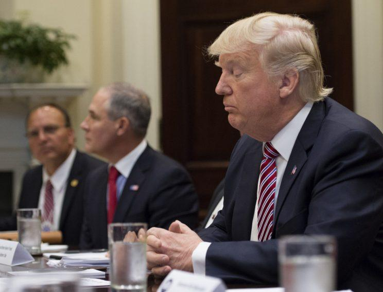 President Trump during a White House meeting Wednesday.