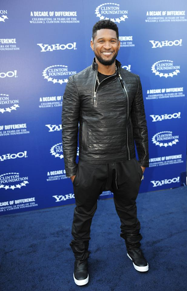"Usher arrives at the ""A Decade of Difference"" concert on October 15, 2011, at the Hollywood Bowl, Los Angeles. <br><br>(Photo by Stephanie Cabral/Yahoo!)"