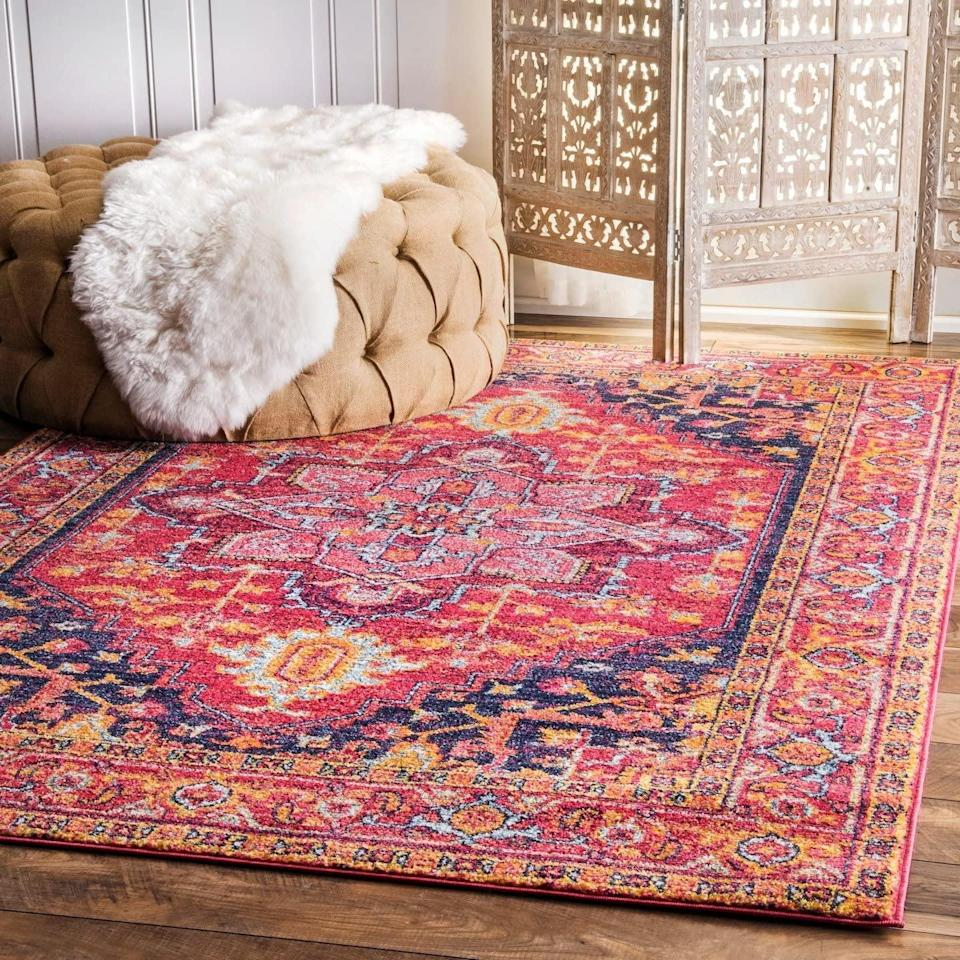 """<p>This <a href=""""https://www.popsugar.com/buy/nuLOOM-Vonda-Area-Rug-575420?p_name=nuLOOM%20Vonda%20Area%20Rug&retailer=amazon.com&pid=575420&price=119&evar1=casa%3Aus&evar9=47486578&evar98=https%3A%2F%2Fwww.popsugar.com%2Fphoto-gallery%2F47486578%2Fimage%2F47486781%2FnuLOOM-Vonda-Area-Rug&list1=shopping%2Cfurniture%2Ceditors%20pick%2Capartments%2Chome%20decorating%2Csmall%20space%20living%2Capartment%20living%2Cdecor%20shopping%2Chome%20shopping%2Cat%20home%20with%20popsugar&prop13=api&pdata=1"""" class=""""link rapid-noclick-resp"""" rel=""""nofollow noopener"""" target=""""_blank"""" data-ylk=""""slk:nuLOOM Vonda Area Rug"""">nuLOOM Vonda Area Rug</a> ($119) is another purchase that has lasted me over five years. The quality is great and it pulls the entire room together.</p>"""