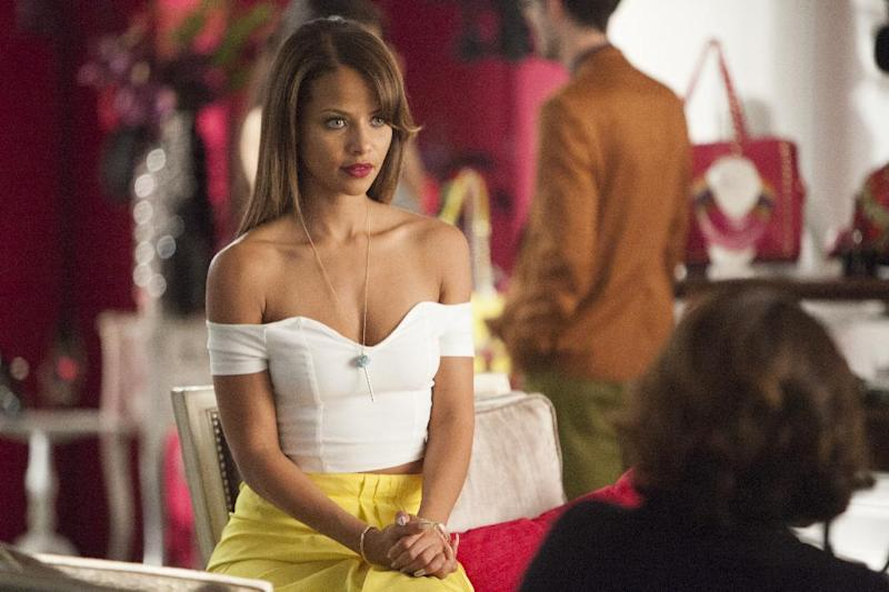 """This image released by VH1 shows Denise Vasi from the series """"Single Ladies,"""" airing Mondays at 9p.m. EST. The hour-long series about three very fashionable women who are best friends dealing with the trials of dating and relationships. (AP Photo/VH1, Annette Brown)"""