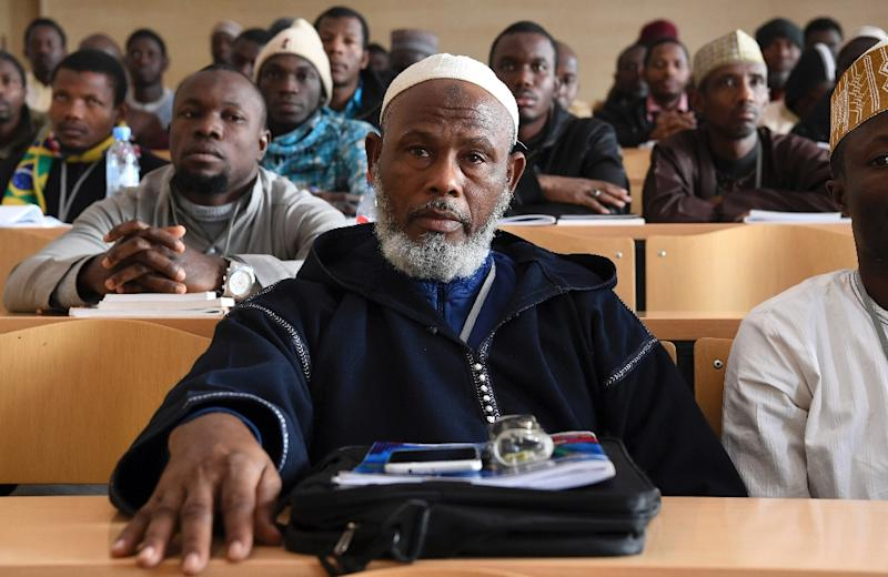 The institute draws trainee imams from France and several other African countries as well as Morocco with its call for a moderate Islam (AFP Photo/FADEL SENNA)