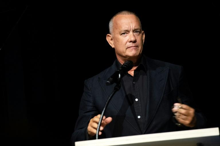 US actor Tom Hanks serves as a trustee for the Academy Museum of Motion Pictures in Los Angeles (AFP/VALERIE MACON)
