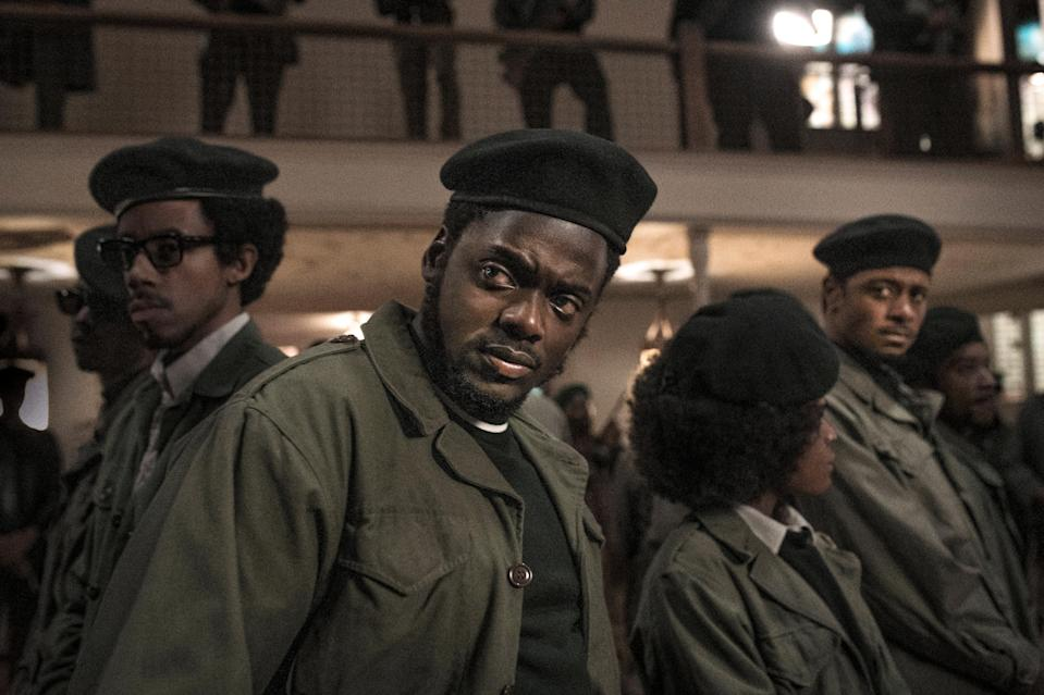 "Daniel Kaluuya (center) stars as Black Panther Party Illinois chairman Fred Hampton in ""Judas and the Black Messiah."""