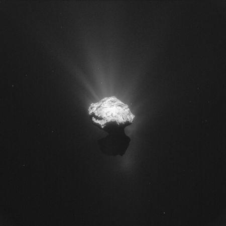 The Comet 67P/Churyumov-Gerasimenko is seen in an image taken by the Rosetta space probe on June 7, 2015 and distributed by the European Space Agency (ESA) on June 17, 2015. REUTERS/ESA - European Space Agency/Handout via Reuters