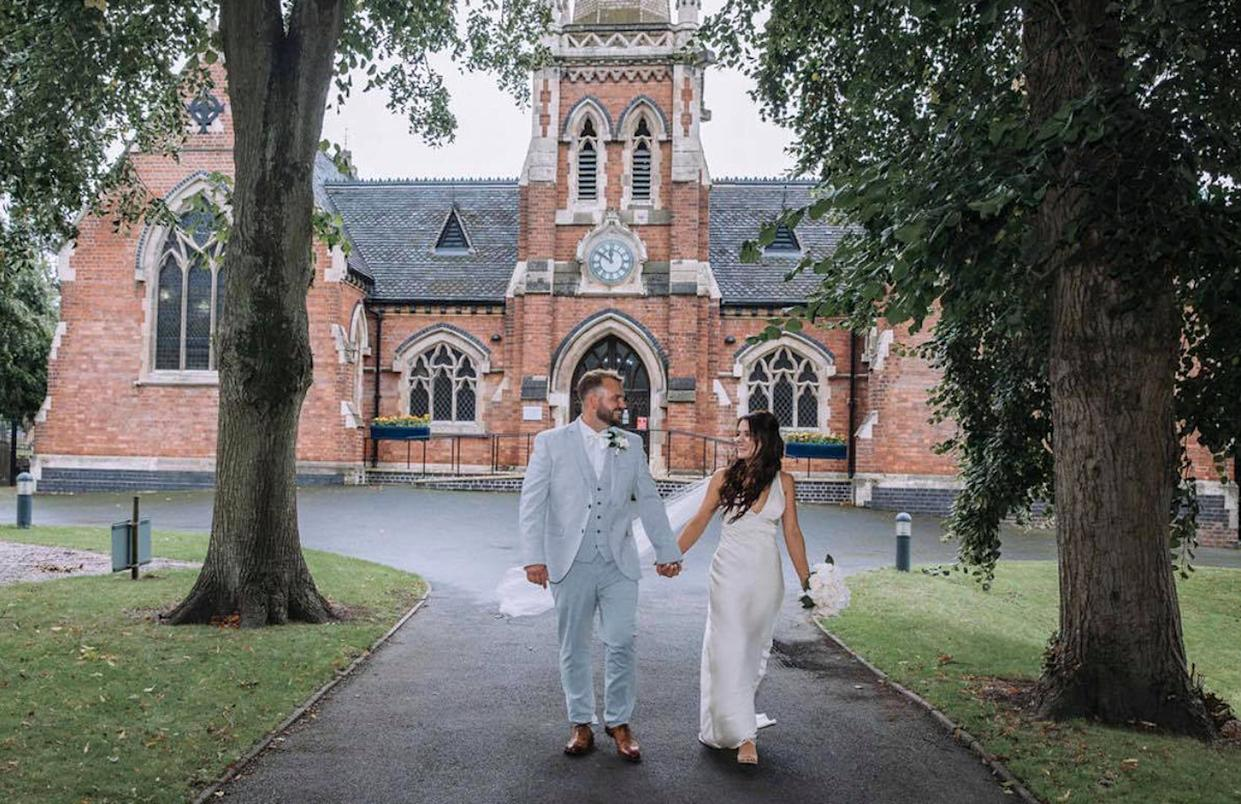 A frugal bride enjoyed her dream wedding for just £500. (Caters)