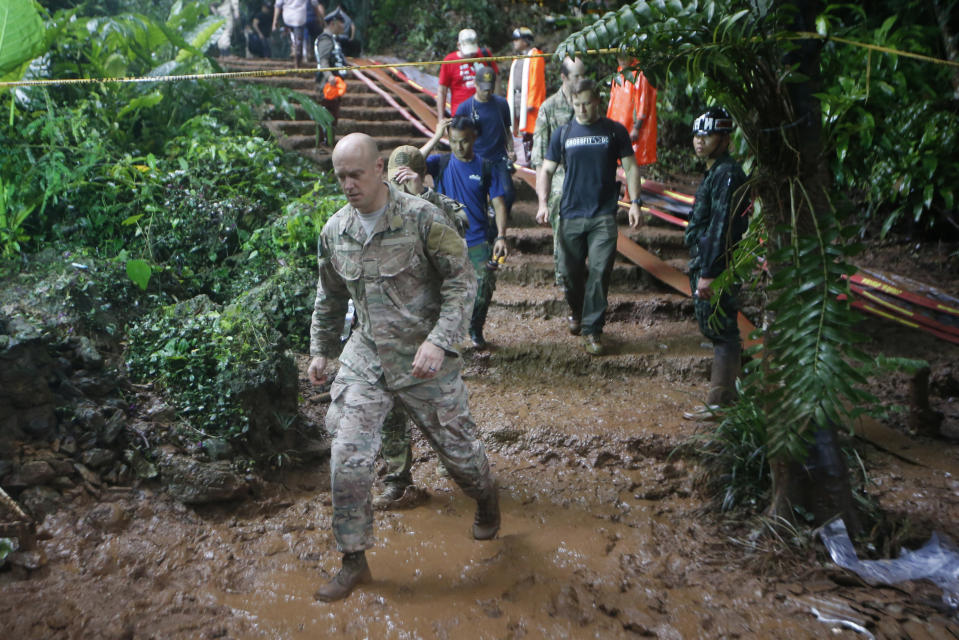 12 boys and their soccer coach missing for five days inside the cave being flooded by near-constant rains. Source: AP