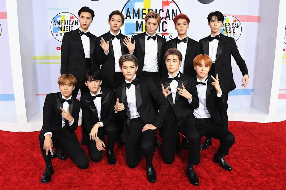 <p>Fresh off their debut on U.S. TV, courtesy of <i>Jimmy Kimmel Live</i>, the 10-member K-pop band was in the house. Listen closely, and you can probably hear the screams. (Photo: Steve Granitz/WireImage) </p>