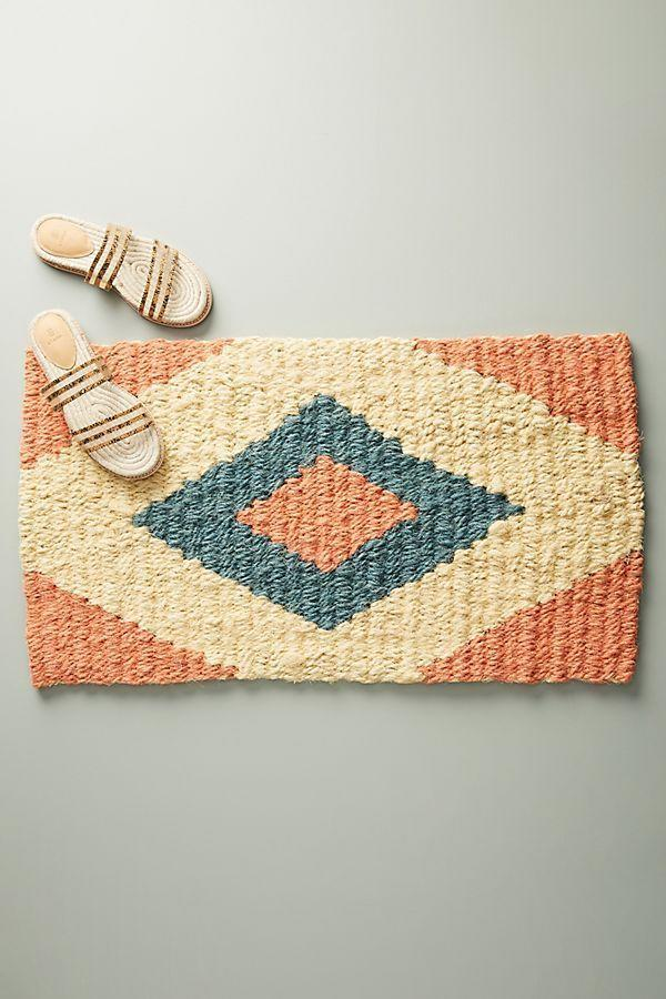 "<p>This handmade mat will look just peachy inside a small-space kitchen.</p><br><br><strong>Anthropologie</strong> Coral Diamond Doormat, $48, available at <a href=""https://www.anthropologie.com/shop/coral-diamond-doormat"" rel=""nofollow noopener"" target=""_blank"" data-ylk=""slk:Anthropologie"" class=""link rapid-noclick-resp"">Anthropologie</a>"
