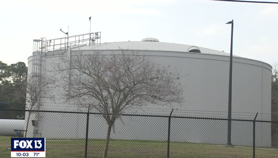 Oldsmar's water treatment plant is pictured.