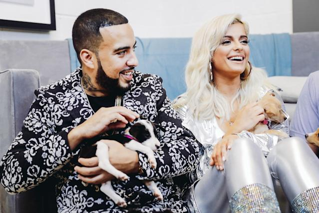<p>LAS VEGAS, NV – SEPTEMBER 22: French Montana (L) and Bebe Rexha attend the 2017 iHeartRadio Music Festival at T-Mobile Arena on September 22, 2017 in Las Vegas, Nevada. (Photo: Getty Images for iHeartRadio) </p>