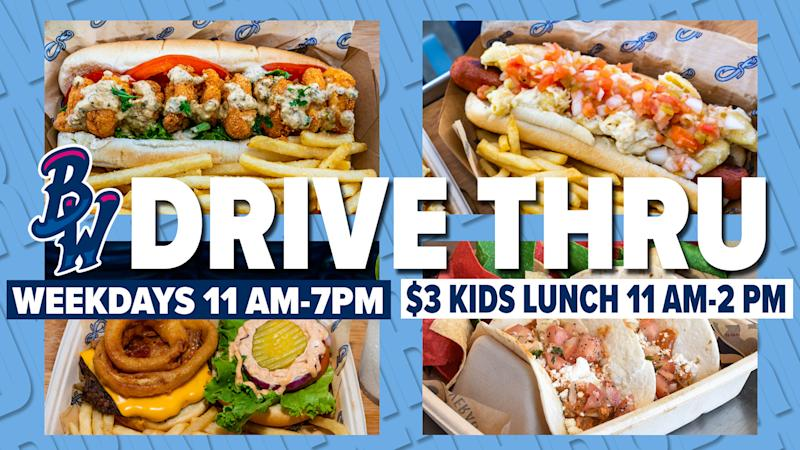 The Pensacola Blue Wahoos are starting a stadium drive-thru for concession items. (@BlueWahoosBBall)