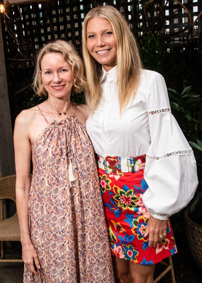 Naomi Watts and Gwenyth Paltrow attend Gwyneth Paltrow hosts launch of goop MRKT Sag Harbor with Ketel One Botanical.