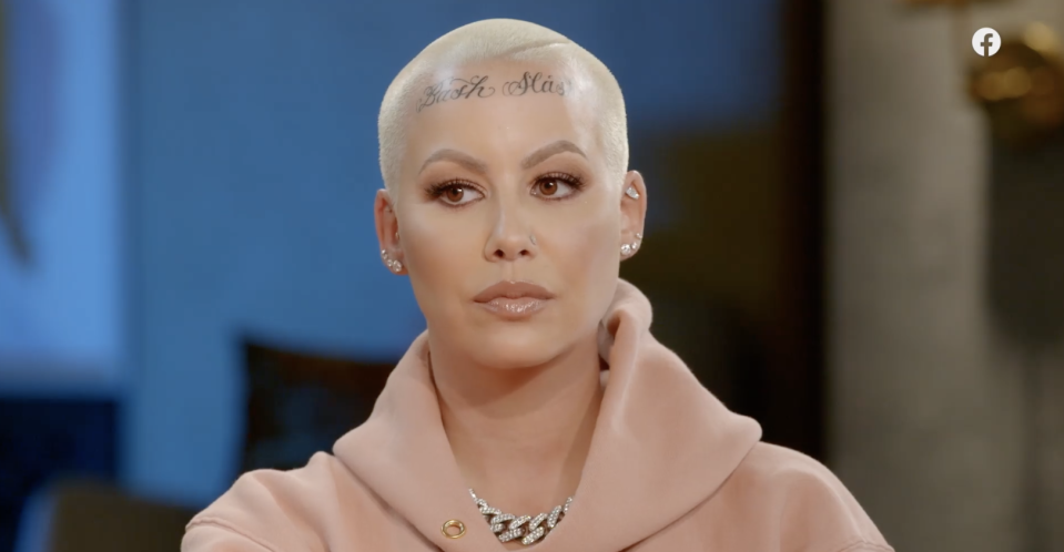Amber Rose on Red Table Talk. (Photo: Facebook)