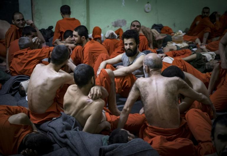 Some 5,000 men and boys presumed to belong to Islamic State group are held in the Kurdish-run prison in northern Syria (AFP Photo/FADEL SENNA)