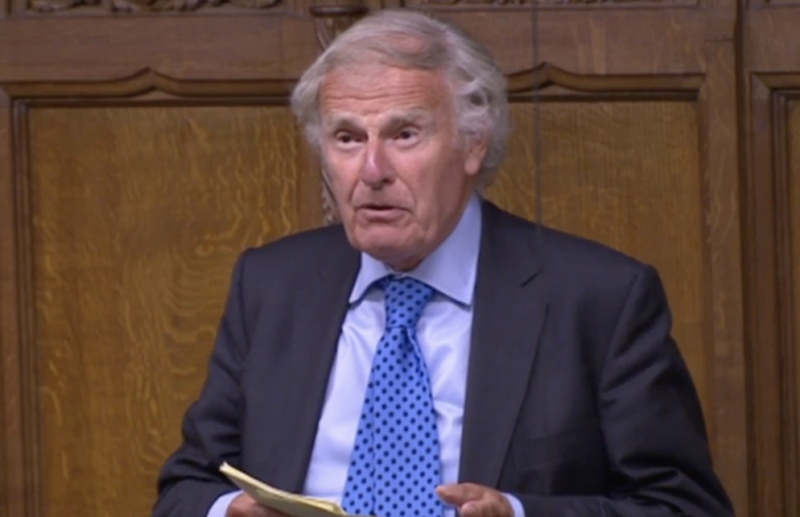 Sir Christopher Chope speaks out against divorce law reform in the Commons on Wednesday. (Parliamentlive.tv)