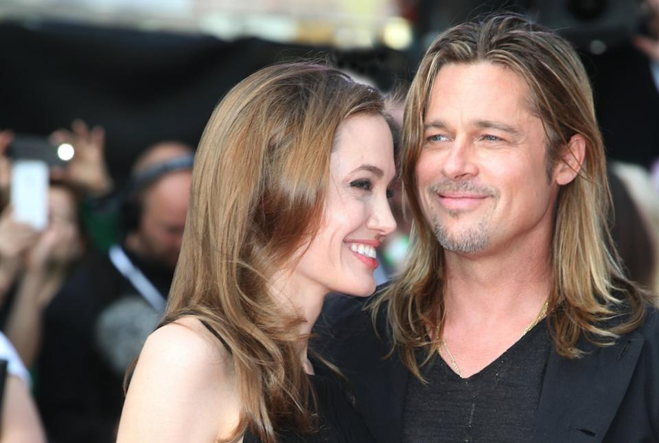 Angelina Jolie and Bra Pitt at the premiere of 'World War Z' in 2013