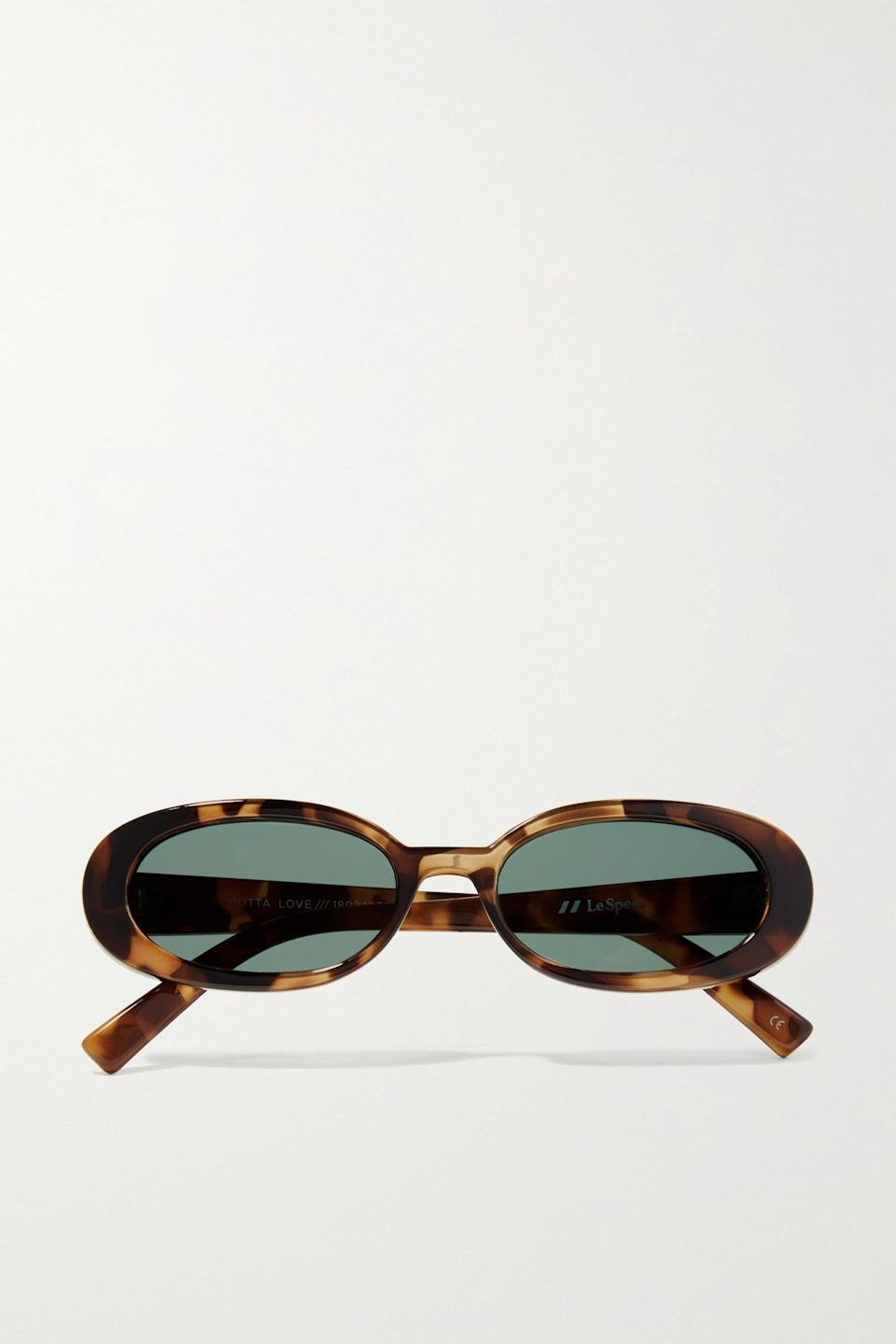<p>These <span>Le Specs Tortoiseshell Outta Love Oval-frame Sunglasses</span> ($59) have an effortlessly cool air.</p>