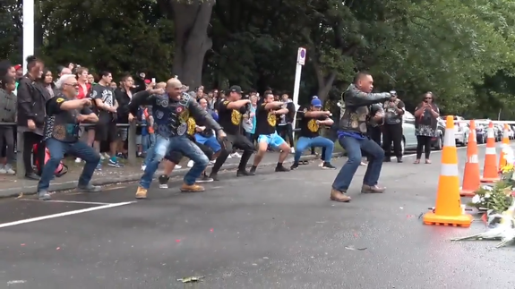 New Zealand bikers perform Haka dance in honor of Christchurch victims