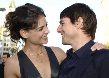 """Premiere: <a href=""""/movie/contributor/1800018992"""">Katie Holmes</a> and <a href=""""/movie/contributor/1800015725"""">Tom Cruise</a> at the Hollywood premiere of Warner Bros. Pictures' <a href=""""/movie/1808490910/info"""">Batman Begins</a> - 6/6/2005<br>Photo: <a href=""""http://www.wireimage.com/"""">Lester Cohen, WireImage.com</a>"""