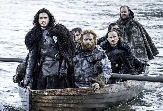 """<p>Jon Snow experiences his version of the Alamo in a remarkable, action-packed <i>Game of Thrones </i>episode that's on par with any big-budget, big-screen blockbuster. Unfolding almost entirely in a single location — the titular fishing village that becomes a body-strewn battleground when the White Walkers descend en masse — """"Hardhome"""" showcases just how far the series has come in terms of special effects and fight choreography. But director Miguel Sapochnik is careful to balance the spectacle with soul, and the final shot of the Night's King raising his arms to welcome more of the walking dead into his army is instantly iconic. —<i>Ethan Alter</i><br /></p><p><i>(Credit: HBO)</i><br /></p>"""