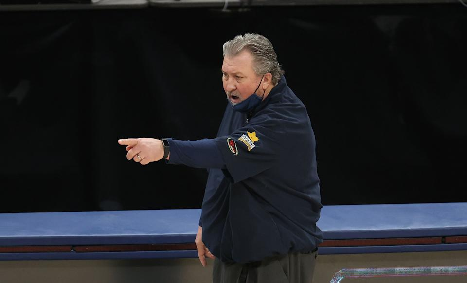 Bob Huggins the head coach of the West Virginia Mountaineers