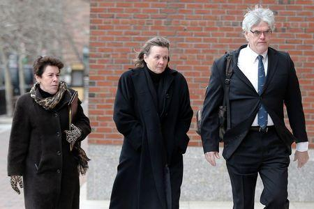 Defense attorneys (L-R) Miriam Conrad, Judy Clarke and Timothy Watkins arrive at the federal courthouse on the second day of jury selection in the trial of accused Boston Marathon bomber Dzhokhar Tsarnaev in Boston, Massachusetts January 6, 2015. REUTERS/Brian Snyder