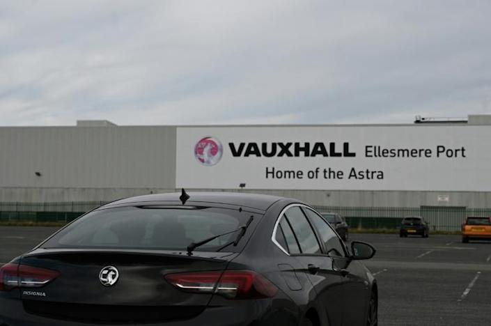The Vauxhall factory, east of Liverpool, after the owner, French automotive group PSA (which produces brands such as Peugeot, Citroen and Opel) announced on March 16, 2020, the shutdown of all its factories in Europe due to the coronavirus (AFP Photo/Paul ELLIS)