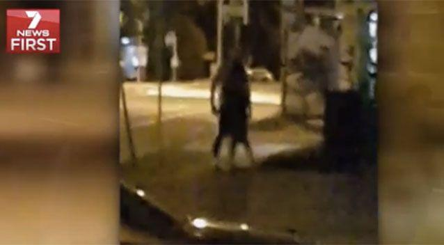 The incident was caught on camera by a concerned local. Source: 7News