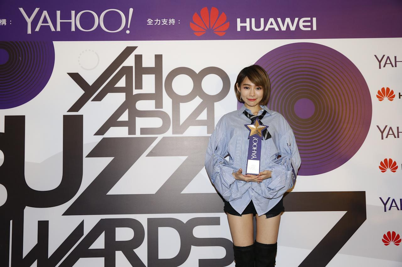 <p>Malaysian singer MinChen Li wins the Queen of Image Search in Taiwan award at the Yahoo Asia Buzz Awards 2017 in Hong Kong on Wednesday (6 December).</p>