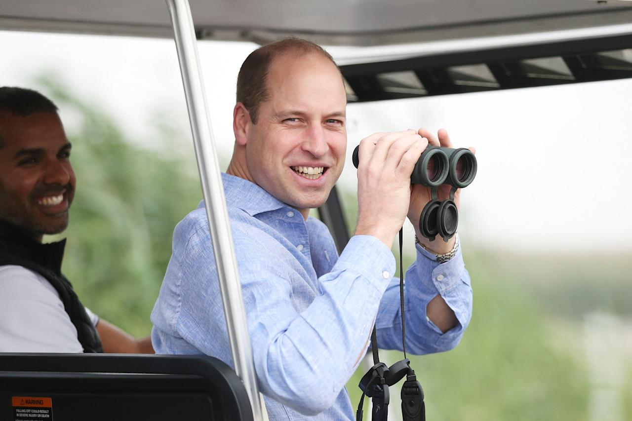 On the first day of his official visit to Kuwait, Prince William learned more about Kuwait's ambitious plans to protect its natural environment from human and environmental challenges at the Jahra Nature Reserve.